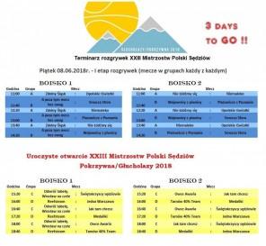 Terminarz gier XXIII MPS 2018