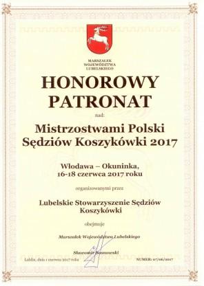 Marszałek Wojewódzatwa obejmuje Patronatem Honorowym MPS 2017