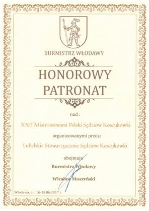MPS 2017 pod Honorowym Patronatem Burmistrza Włodawy