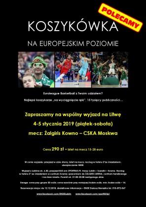 Wyjazd na mecz Euroligi